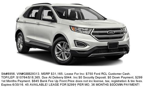 Ford Edge Deal